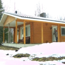 Kortenivan uusi saunarakennus